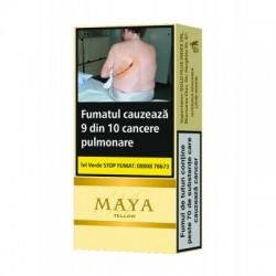 Tigari de foi aromate cu gust de vanilie Maya Yellow 10