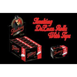 Set 24 foite in rola Smoking rolls Deluxe cu filtre carton