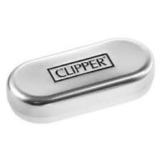 Bricheta Clipper Large Metal Rosie + cutie metalica