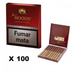 Tigari de foi Mini Moods Double Filter (10) - 100 Pachete