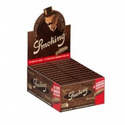 Set 24 pachete Foite Smoking King  Size Brown + Filtre carton