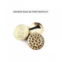 Grinder tocat tutun 40 mm, metalic, Gold