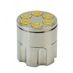 Grinder tocat tutun 42 mm, metalic, Bullet